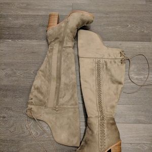 Shoes - Torrid Faux Suede Over the Knee Boots
